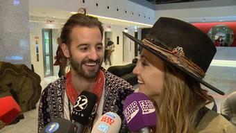 Co und Stee Gfeller im Interview nach ihrem Halbfinal-Auftritt am Eurovision Song Contest am Dienstagabend.