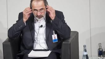 Der Vorsitzende der Syrischen Nationalen Koalition, Ahmed Moas al-Chatib (Archiv)