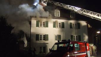 Dackstockbrand in Arisdorf am 13. September 2011