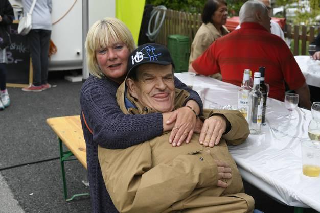 Auf dem Festplatz ein alter Bekannter aus dem Blumenhaus in Kyburg Buchegg, der sich das Fest nicht entgehen lässt.