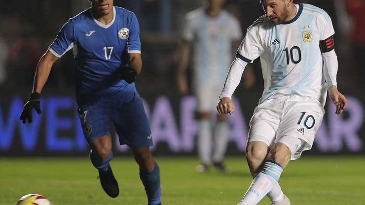 Lionel Messi traf für Argentinien gegen Nicaragua doppelt