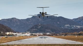 Die Betreiber des Flughafens Lugano Agno werfen das Handtuch. (Archivbild)