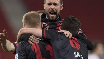 Kommen aus dem Feiern kaum noch heraus: Aufsteiger Xamax jagt den Punkterekord des FC Zürich in der Challenge League