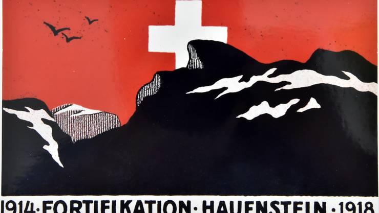Ein Erinnerungsplakat aus der Zeit der Grenzbesetzung im Ersten Weltkrieg.