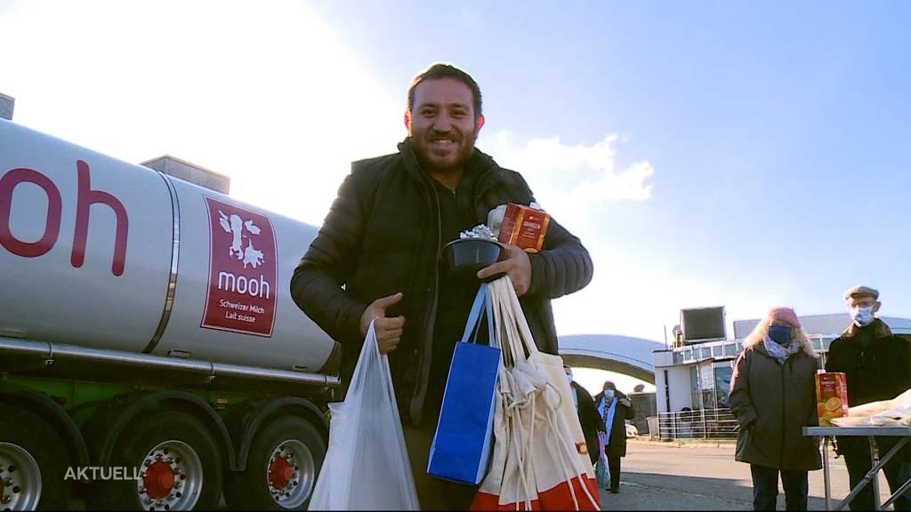Weihnachtsüberraschung für gestrandete LKW-Fahrer in Deitingen und Gunzgen
