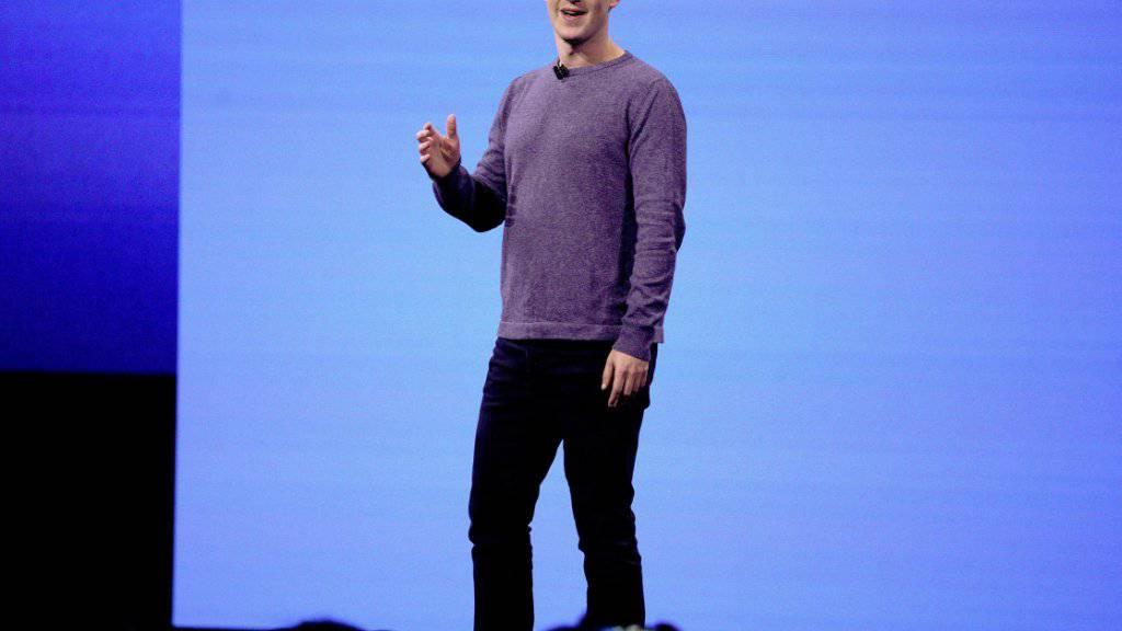 Steht wegen Datenschutzverstössen bei Facebook unter Druck: Unternehmenschef Mark Zuckerberg. (Archivbild)