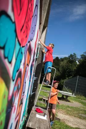 Kurs Graffiti des Ferienpasses Bucheggberg in Mühledorf