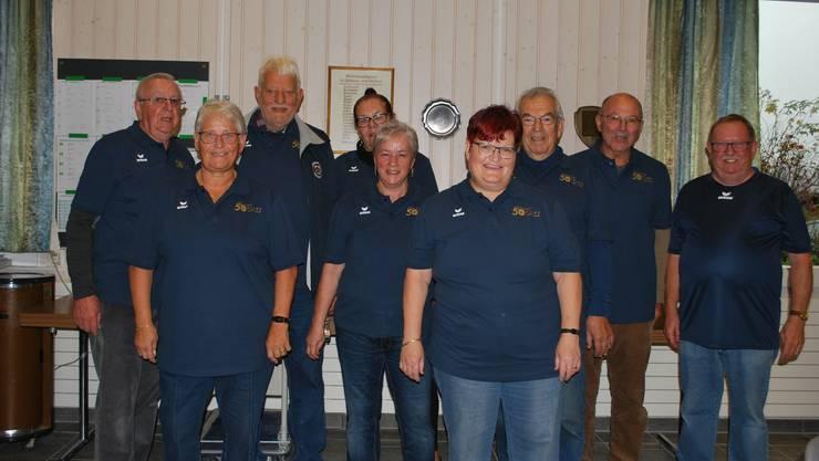 Die bewährte Crew des Pétanque Clubs Trimbach