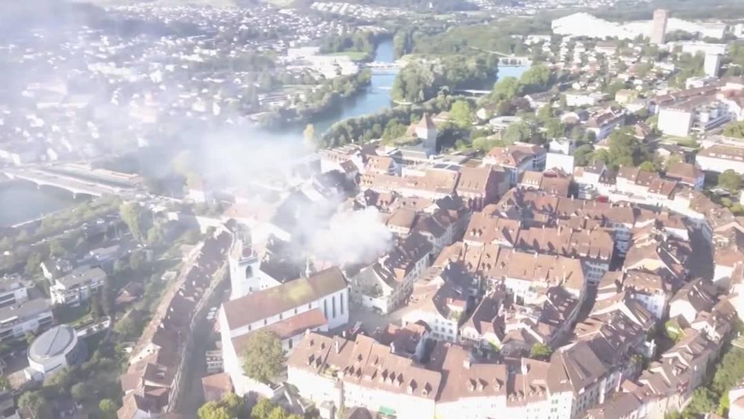 Das Feuer in der Altstadt von Aarau (3. September 2019)