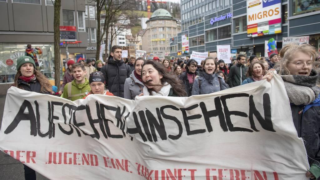 Die Klimastreikenden setzen sich weiter ein für «eine lebenswerte Zukunft für uns und unsere Nachfahren».