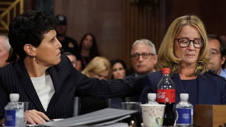 Christine Blasey Ford sagte vor dem Justizausschuss des US-Senats gegen Brett Kavanaugh aus.