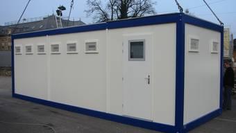 Solche Gefängniscontainer werden in Liestal aufgestellt.