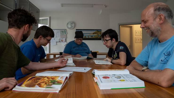 Der Menuplan für die kommende Woche wird von den Wohnschülern selbst zusammengestellt.