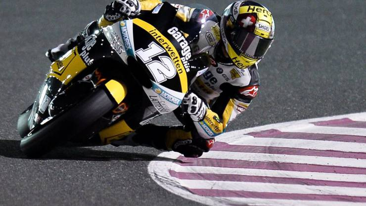 Tom Lüthi war am ersten Trainingstag zum Grand Prix von Katar der schnellste Schweizer (Archivbild)