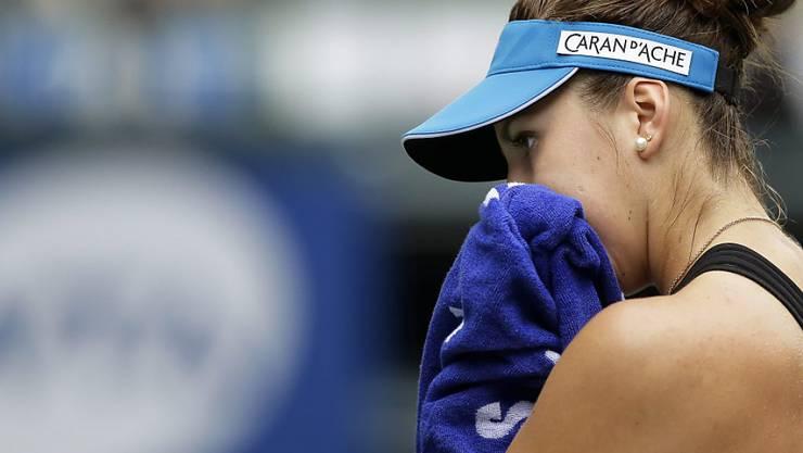 Belinda Bencic musste beim Hardplatzturnier in Wuhan (China) in der 2. Runde entkräftet aufgeben
