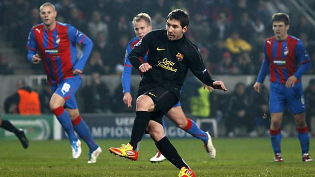 Messi dreifacher Torschütze gegen Pilsen