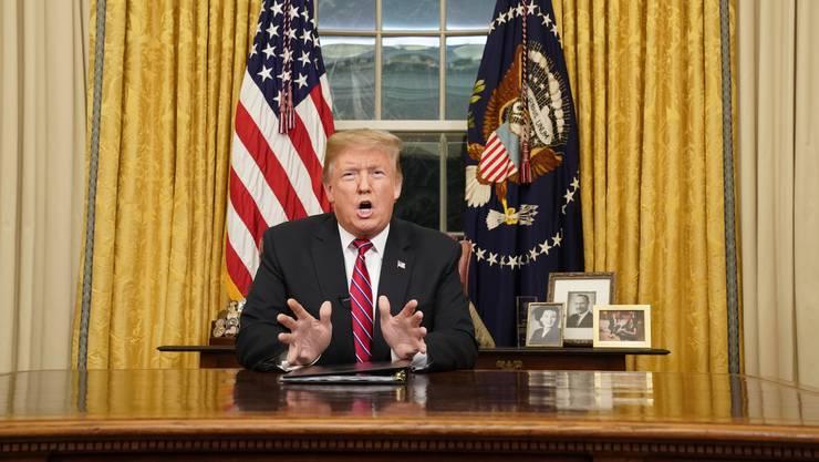 US-Präsident Donald Trump bezeichnet in seiner Rede zum Shutdown Einwanderung als «eine Krise des Herzens, eine Krise der Seele».