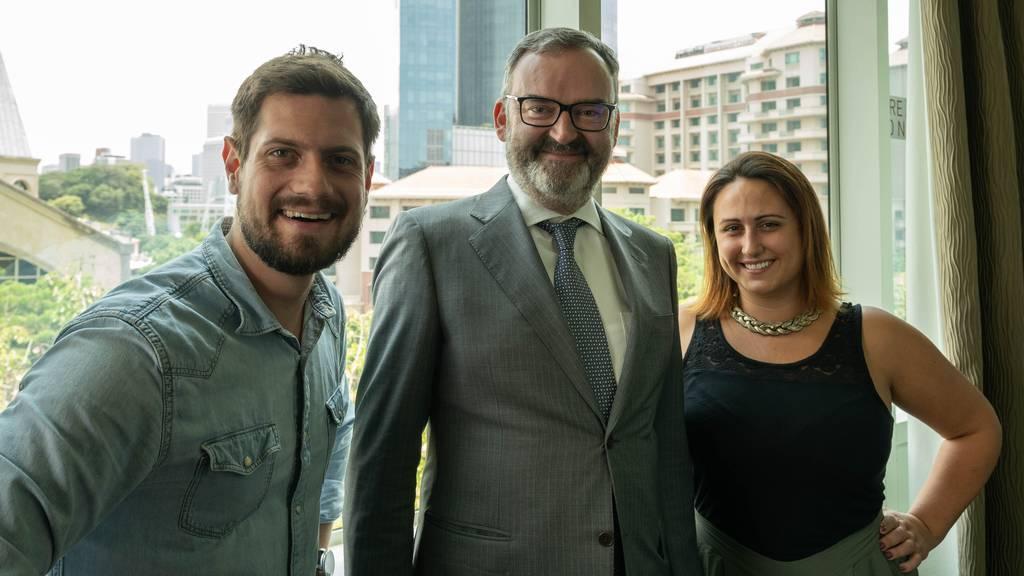 Hoher Besuch: Der Schweizer Botschafter in Singapur