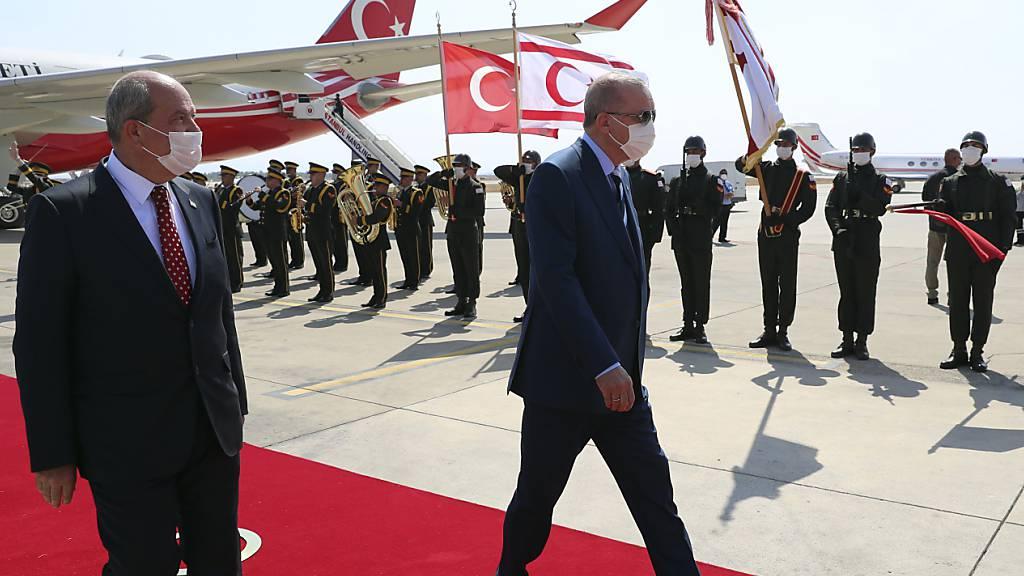 Erdogan fordert erneut Zwei-Staaten-Lösung für geteiltes Zypern