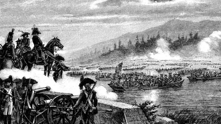 Der Übergang der Franzosen am 25. September 1799 über die Limmat bei Dietikon markierte den Auftakt zur zweiten Schlacht bei Zürich. zvg