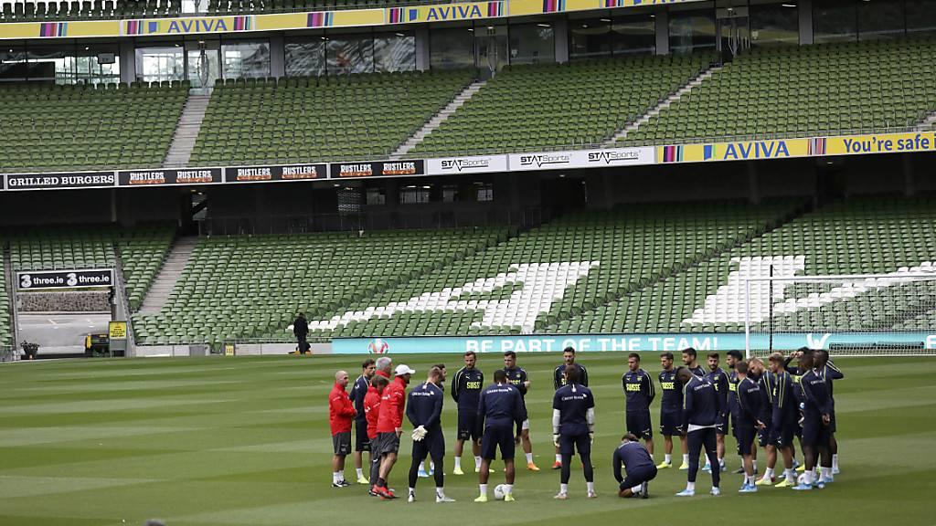 Die Schweiz vor dem Spiel in Irland in der EM-Qualifikation