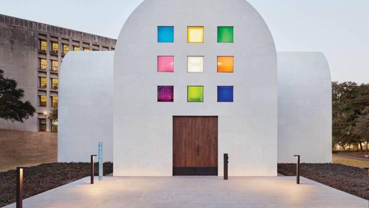 """Das grösste Kunstwerk des US-Künstlers Ellsworth Kelly: das kapellenartige Gebäude """"Austin"""" auf dem Gelände des Blanton Museum of Art im US-Bundesstaat Texas wurde am Wochenende eröffnet."""