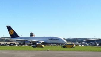 Die A380-Lufthansa-Maschine ist sicher in Zürich gelandet