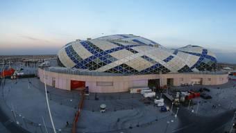 Die Lusail Multipurpose Hall in Doha, Katar ist mit einem Fassungsvermögen von 15`000  Zuschauern die grösste der drei Stadien der Handball-WM.