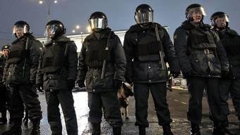 Polizisten in Moskau im Einsatz