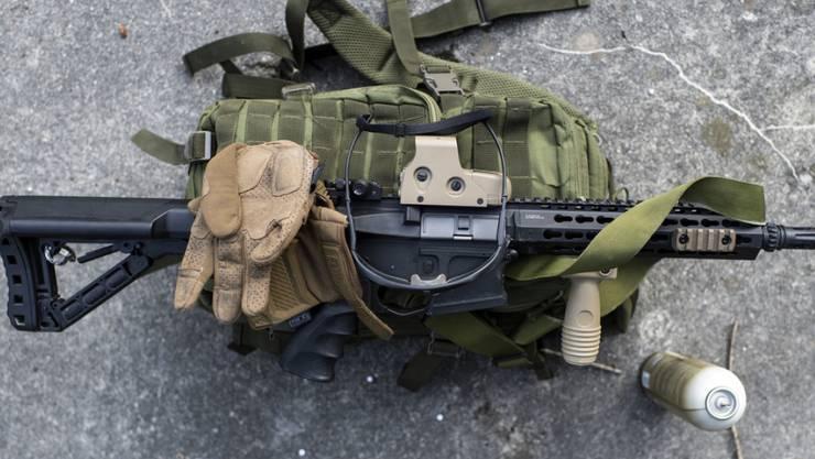 Eine Softairwaffe, eine im Sport verwendet Druckluftwaffe. (Symbolbild)