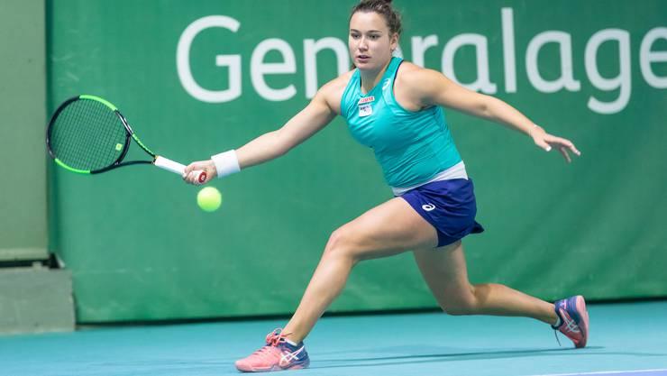 Mit der zurzeit formstarken Ylena In-Albon ist in Derendingen auch eine Schweizer Fed-Cup-Spielerin am Start.