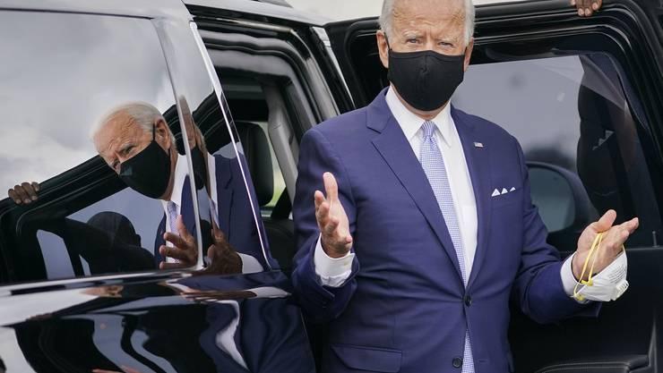 «Sehe ich aus wie ein radikaler Sozialist?», fragte der demokratische Präsidentschaftskandidat Joe Biden bei seinem Auftritt in Pittsburgh.