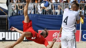 Noel Ott liefert den Beweis, warum er zu den besten Strandfussballern der Welt gehört