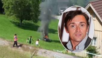 Dieses Video zeigt den Unfall des britischen TV-StarsRichard Hammond bei einem Autorennen in Hemberg im Kanton St. Gallen am 10. Juni 2017. Er ist aus den Sendungen«Top Gear» und «The Grand Tour» bekannt.