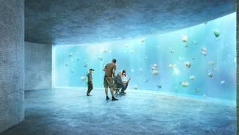 Computervisualisierung des Ozeanium Projektes des Zoo Basel.