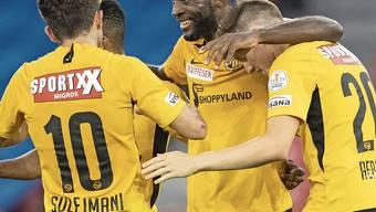Hat gut lachen beim 5:0 gegen den FC Zürich: YB-Torjäger Jean-Pierre Nsame.