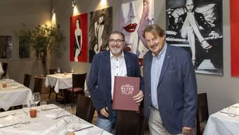 Massimo Santucci (links), der neue Geschäftsführer und Alex Heuberger, Inhaber im neu dekorierten Restaurant.