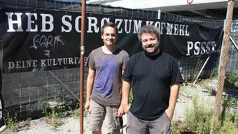 Mehr Sorgen als auch schon haben derzeit Programmleiter Chrigu Stuber und Leiter Pipo Kofmehl. Foto: ww