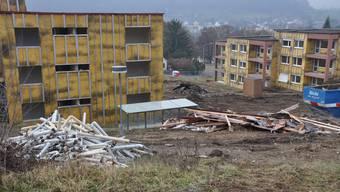 In Urdorf sind 2018 etwas mehr Baugesuche eingegangen als in den Vorjahren. Im Bild der Abriss der Siedlung Heidenkeller, deren Neubau 2018 fertiggestellt wurde.