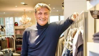 «Das war total verrückt.» Michele Luongo stilvollendet in seiner Modeboutique Zeronove Uomo am Spalenberg.