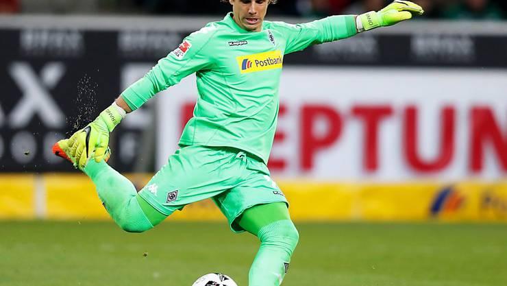 Borussia Mönchengladbach (hier mit Goalie Yannick Sommer) bekundete im Cup in Deutschland beim Viertligisten Rot-Weiss Essen grosse Mühe