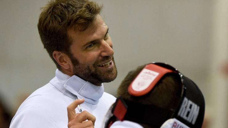 Auch der Olympia-Vierte Benjamin Steffen (links) erreicht den Finaltag im Degen-Einzel vom Freitag