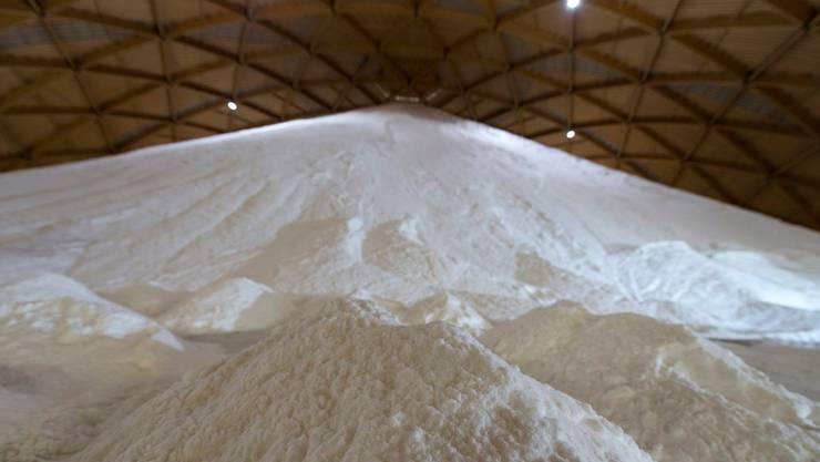 Saldome 2: Die grösste Holzkuppel Europas: 100'000 Tonnen Salz können hier gelagert werden.
