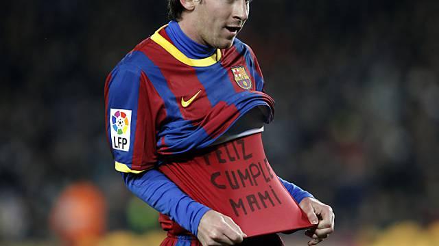 Lionel Messi gratuliert seiner Mutter via Unterhemd zum Geburtstag
