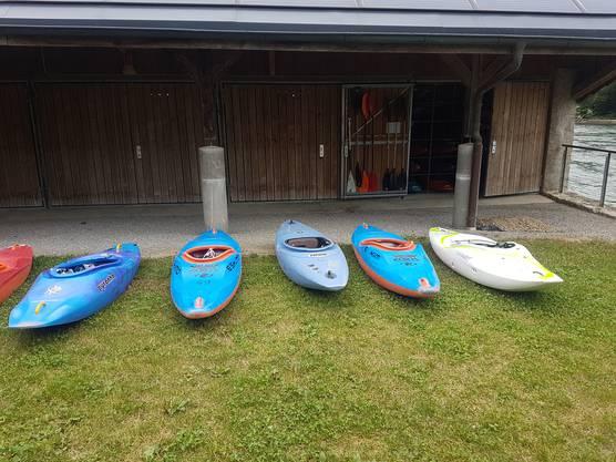 Bald bereit für eine lässige Kayak-Tour auf der Aare