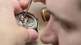Die Exportwarengruppe «Präzisionsinstrumente, Uhren und Bijouterie» verzeichnete ein Minus von 0.3 Prozent.