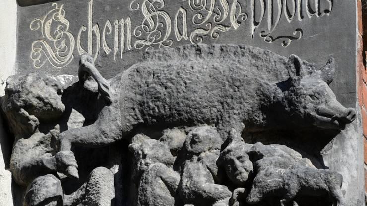 """Eine als """"Judensau"""" bezeichnete mittelalterliche Schmähskulptur an der Aussenwand der Stadtkirche Sankt Marien in Wittenberg soll entfernt werden, fordert eine internationale Petition. (Archivbild)"""