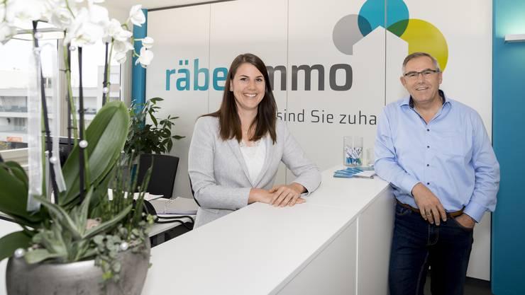 Fabienne und Thomas Räber in ihren neuen Räumlichkeiten.