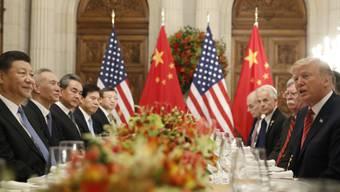 US-Präsident Donald Trump (rechts) und Chinas Präsident Xi Jinping (links) haben beim Treffen in Buenos Aires am vergangenen Wochenende der jeweils anderen Seite zahlreiche Zugeständnisse im Handelsstreit abgerungen.
