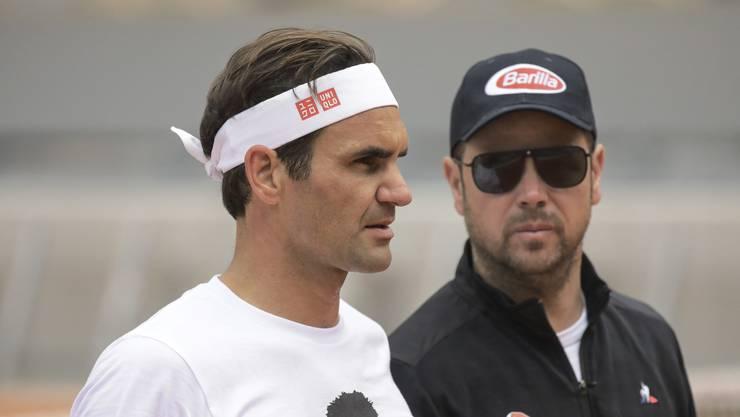 Roger Federer und Trainer Severin Lüthi sind zurück in Paris.